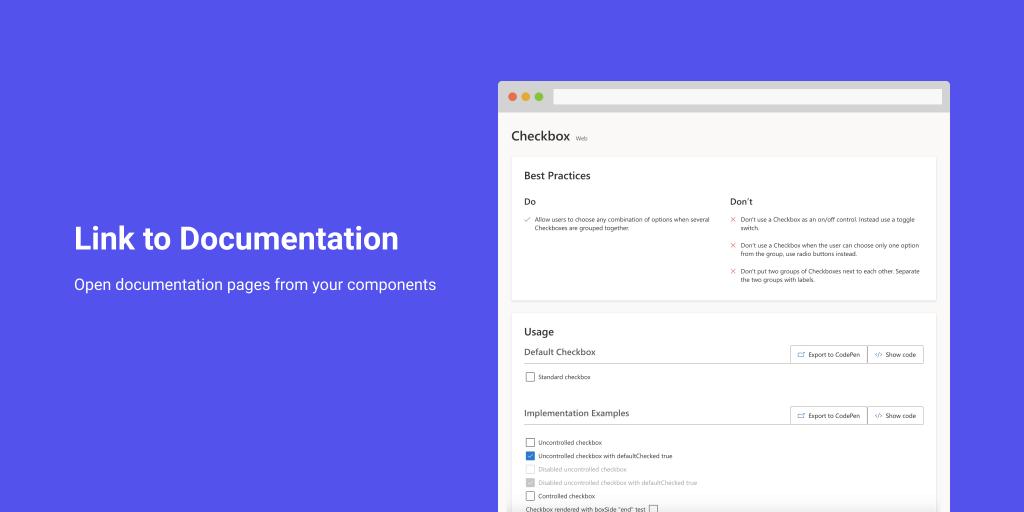 link to documentation