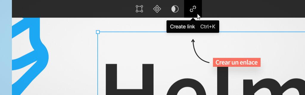 crear un link en los diseños de figma