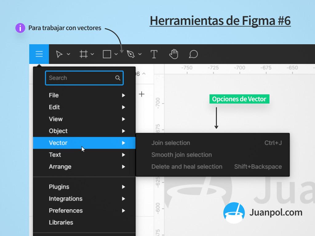 menu vector herramientas figma
